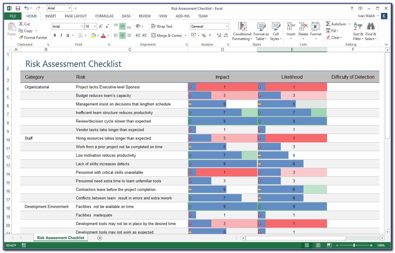 Risk Management Log Template Excel