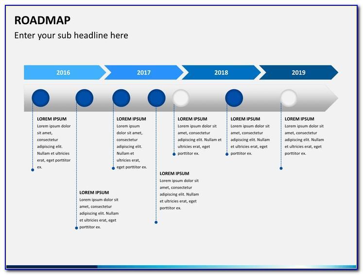 Roadmap Journey Powerpoint Template Free