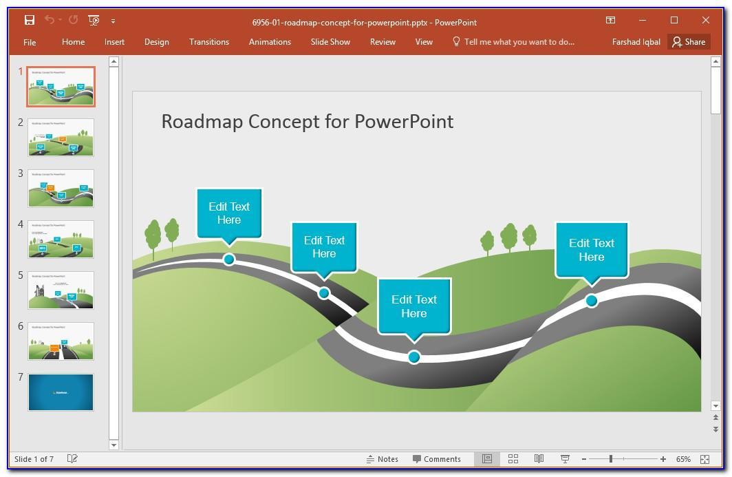 Roadmap Presentation Template Free Download