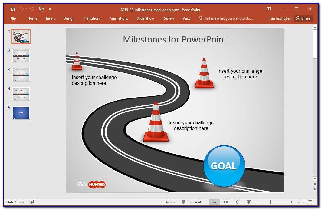 Roadmap Template For Ppt Free