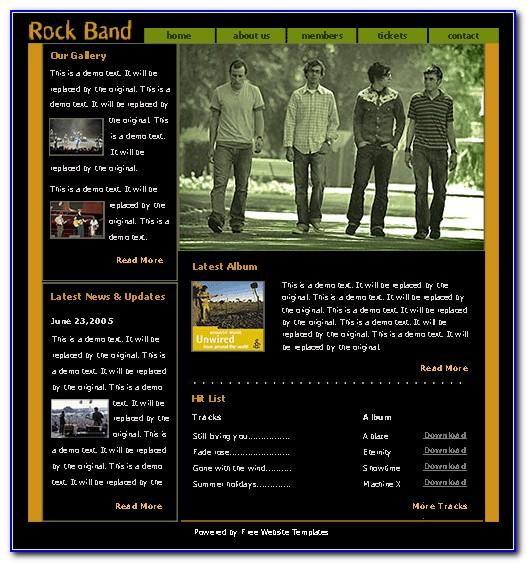 Rock Band Web Templates Free