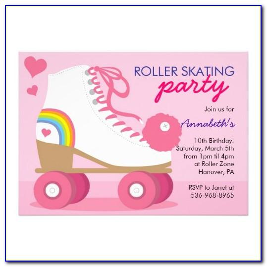 Roller Skate Invitation Template Free