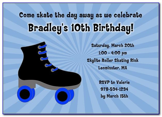 Roller Skate Party Invitations Template Free