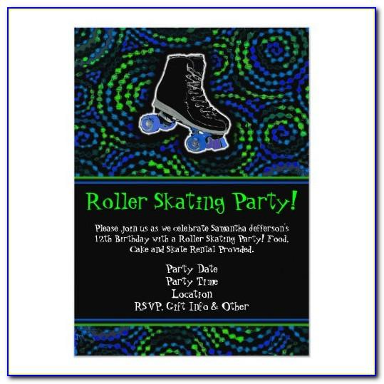 Roller Skating Invitation Template