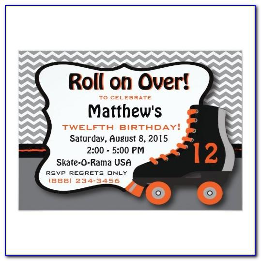 Roller Skating Party Invitations Templates