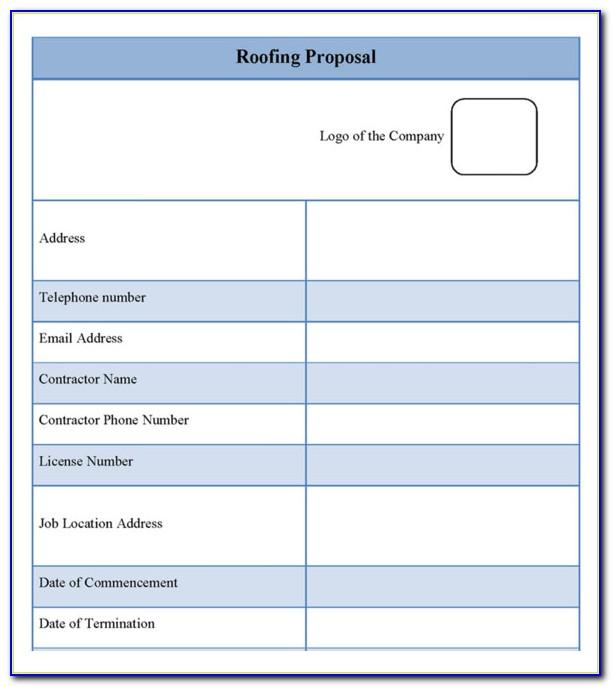Roofing Estimate Templates Free