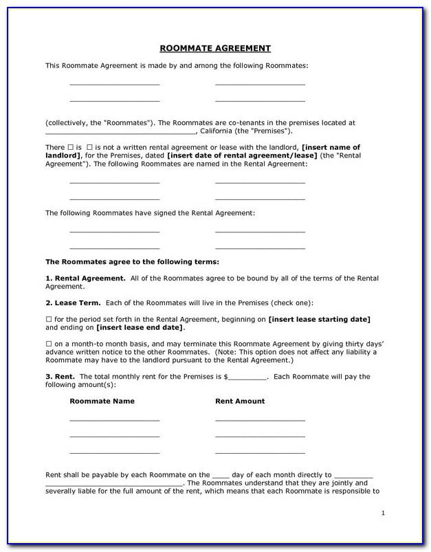 Room Rent Contract Template Uk
