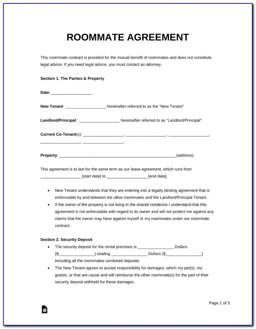 Room Rental Agreement Template Florida