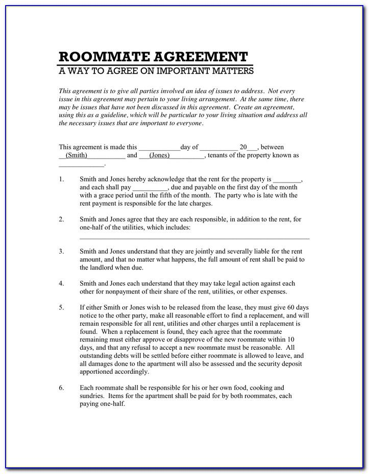 Room Rental Agreement Template Pdf