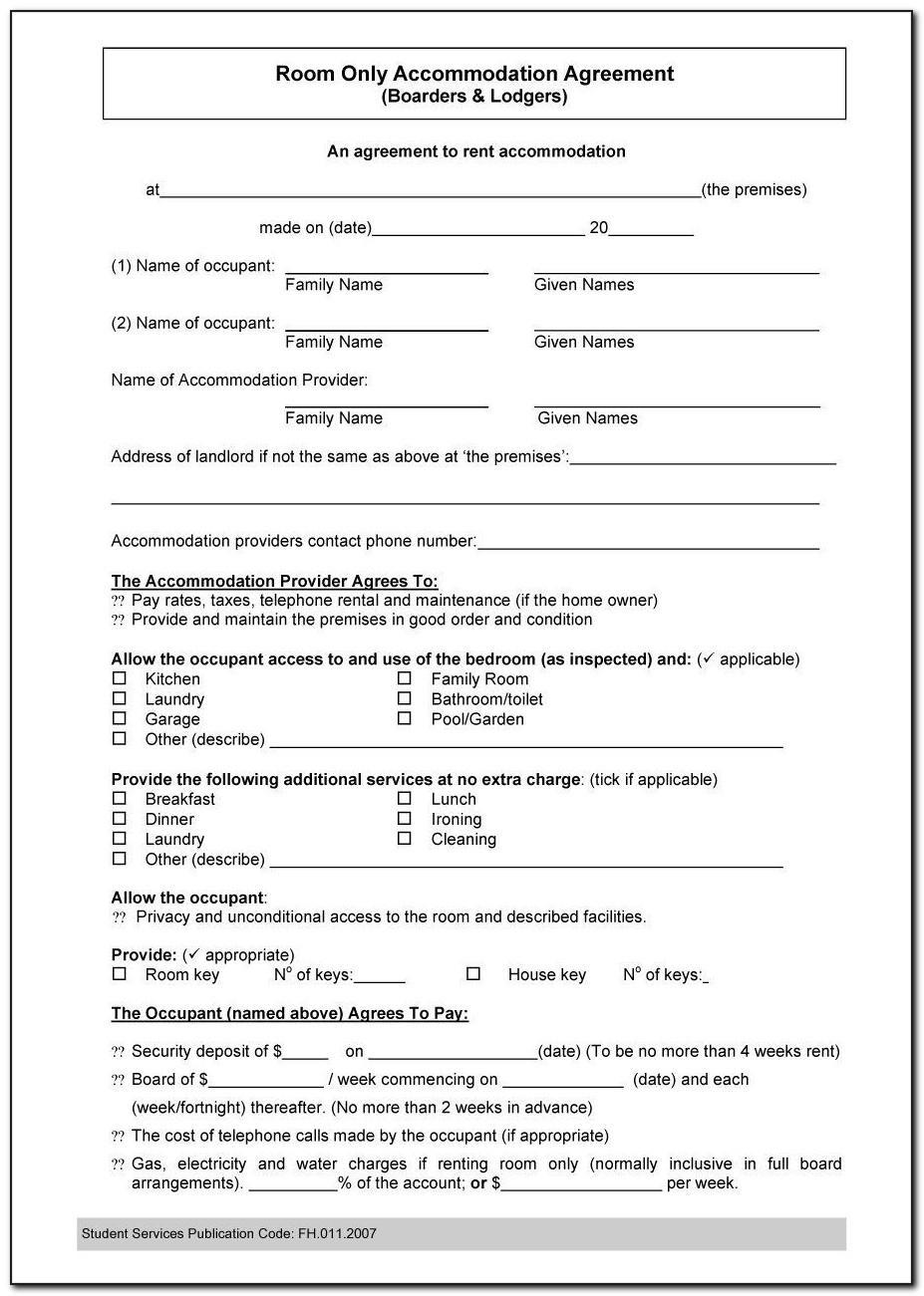 Roommate Agreement Alberta Template