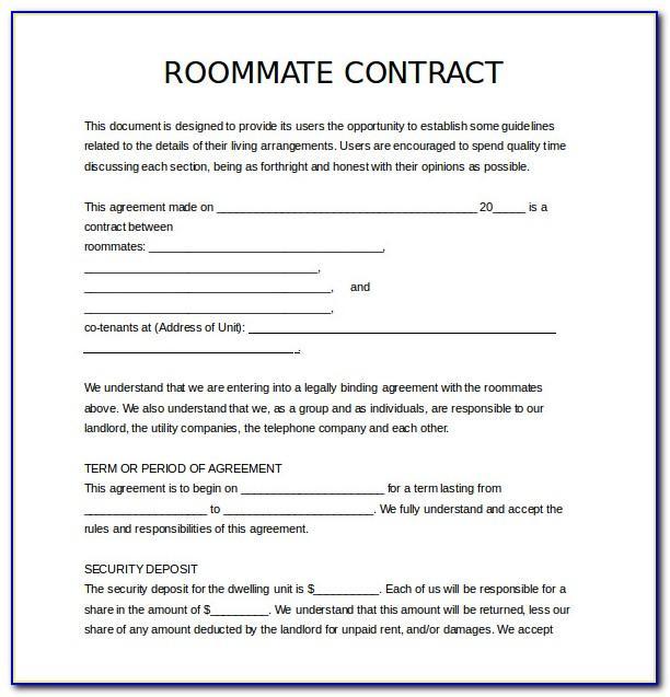 Roommate Agreement Template Ontario