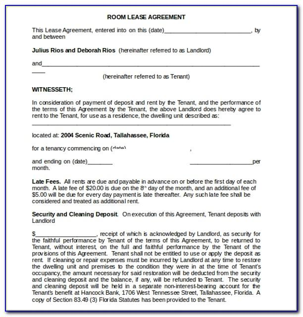 Roommate Lease Agreement Form Free