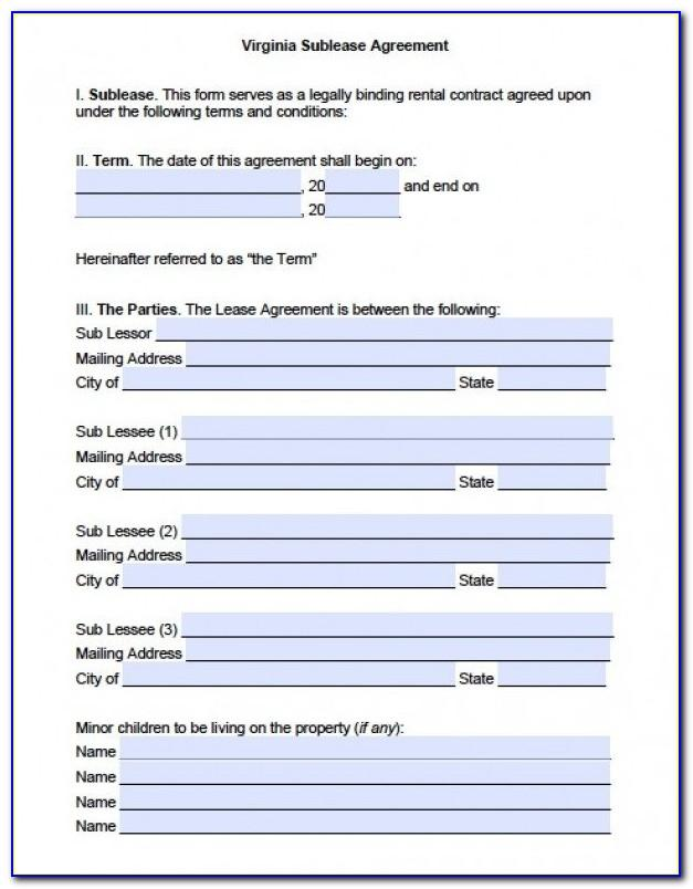 Roommate Rental Agreement Forms Free