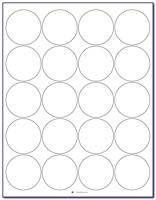 Round Adhesive Label Template 20 Per Sheet
