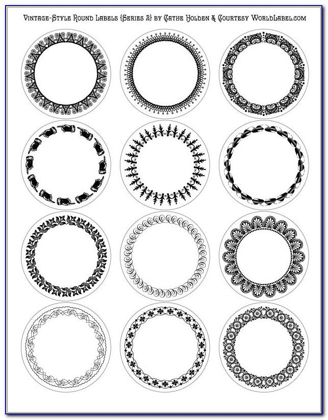 Round Circle Labels Template