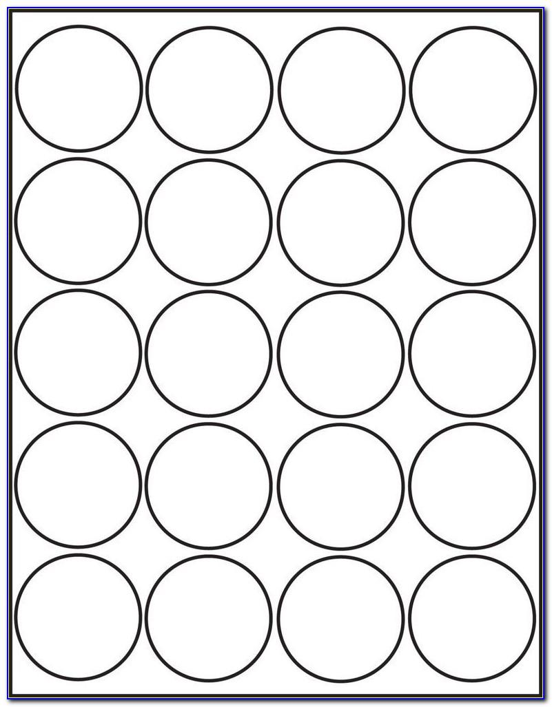 Round Label Template 15 Per Sheet