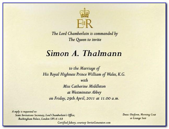 Royal Wedding Invitation Card Designs