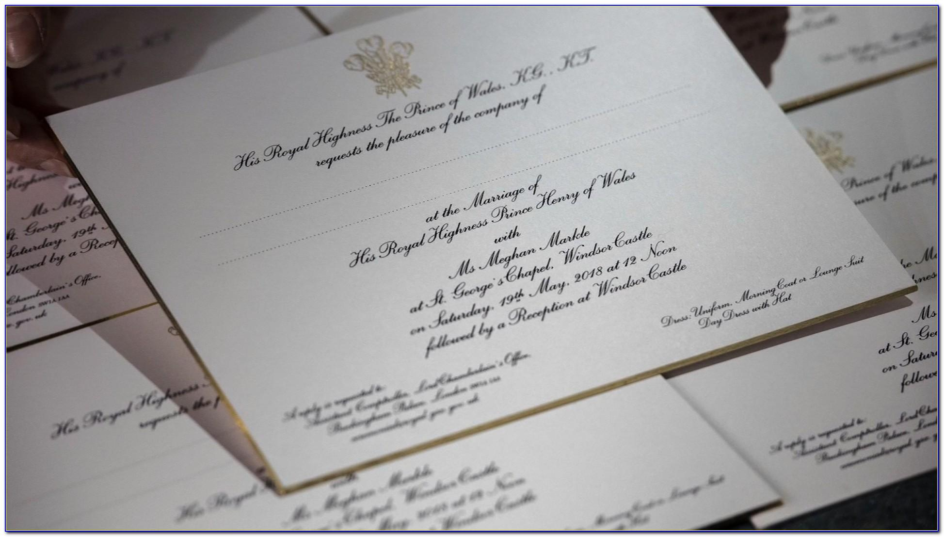 Royal Wedding Invitation Cards 2018