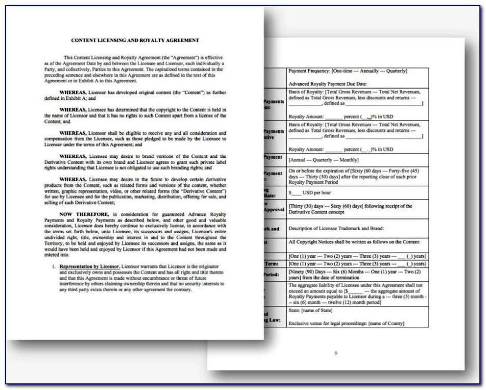 Royalty Free Music License Agreement Template