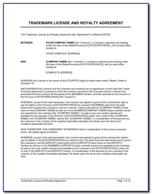 Royalty License Agreement Template