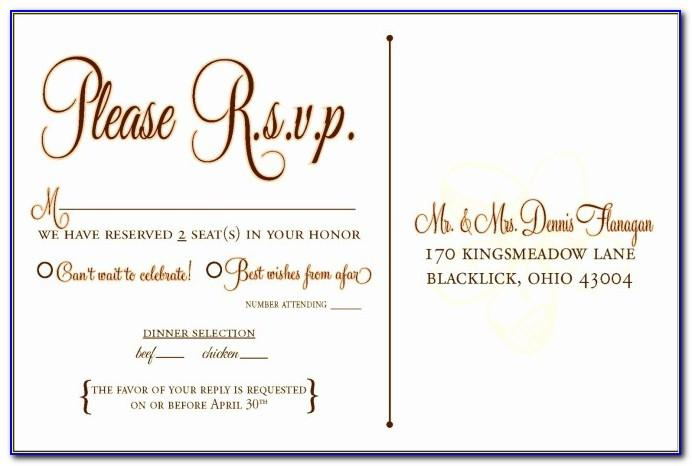 Rsvp Birthday Party Invitation Template