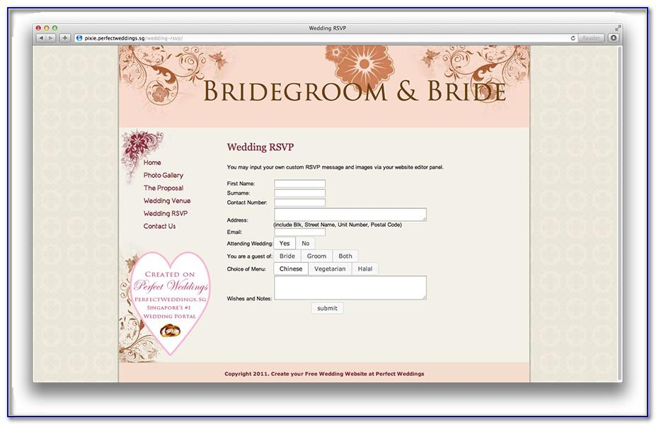 Rsvp Template On Web Page