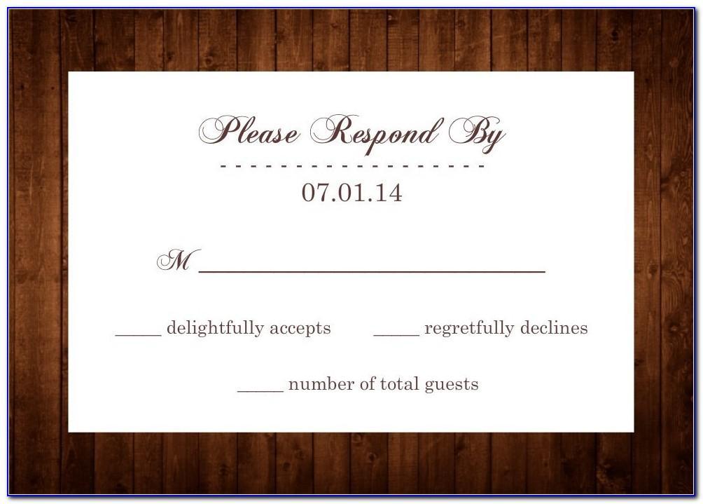 Rsvp Wedding Invitation Template