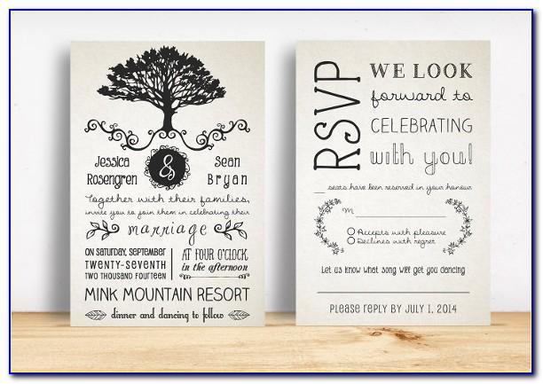 Rustic Wedding Ceremony Program Template