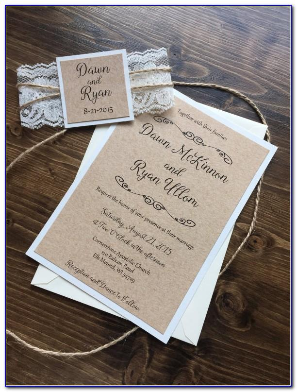 Rustic Wedding Invitation Template Free