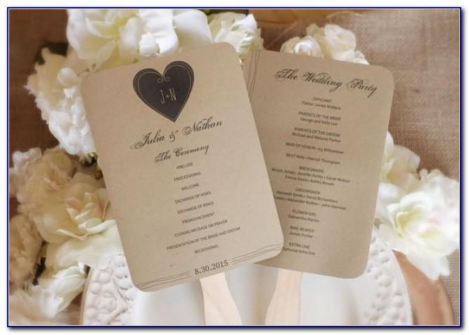 Rustic Wedding Program Examples