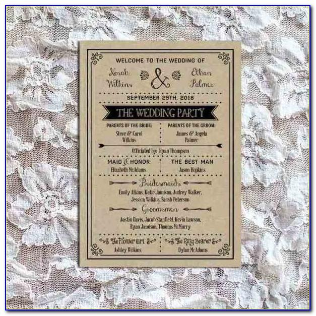 Rustic Wedding Table Number Templates