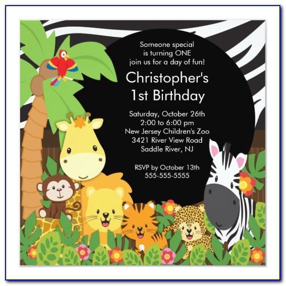 Safari Birthday Invitations Templates Free