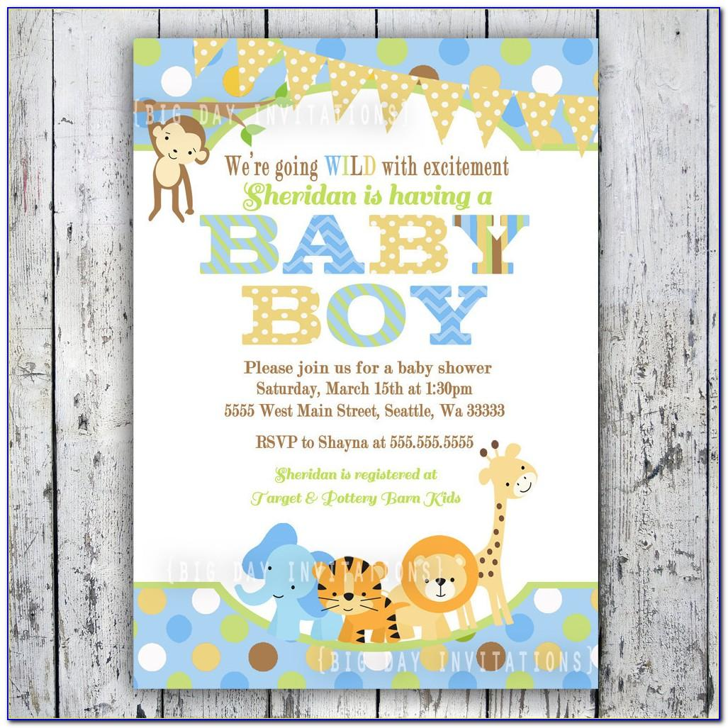 Safari Birthday Party Invitation Template