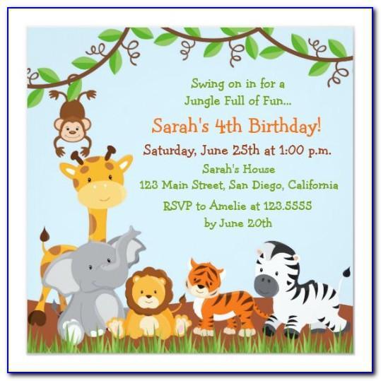 Safari Themed Invitation Template Free