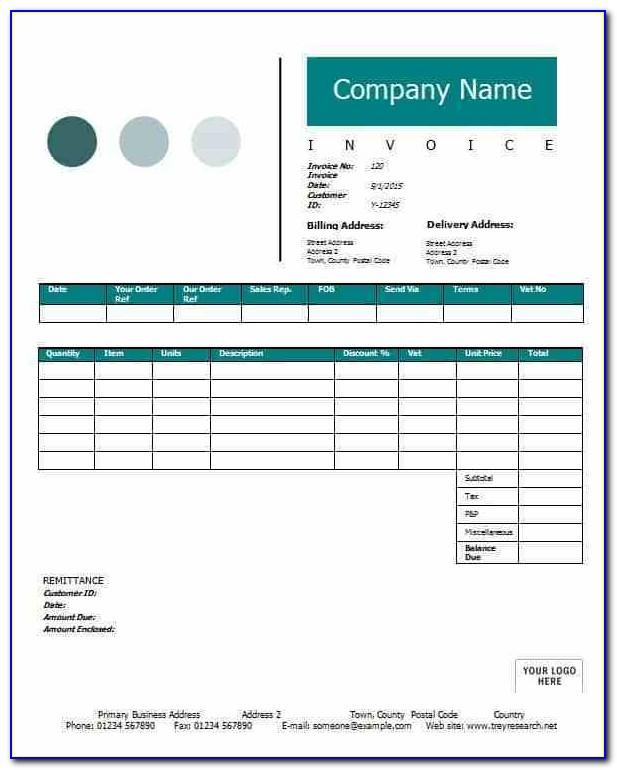 Sale Invoice Template Excel