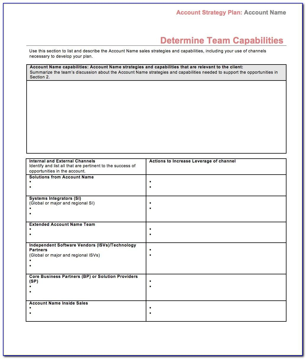 Sales Business Plan Template Excel