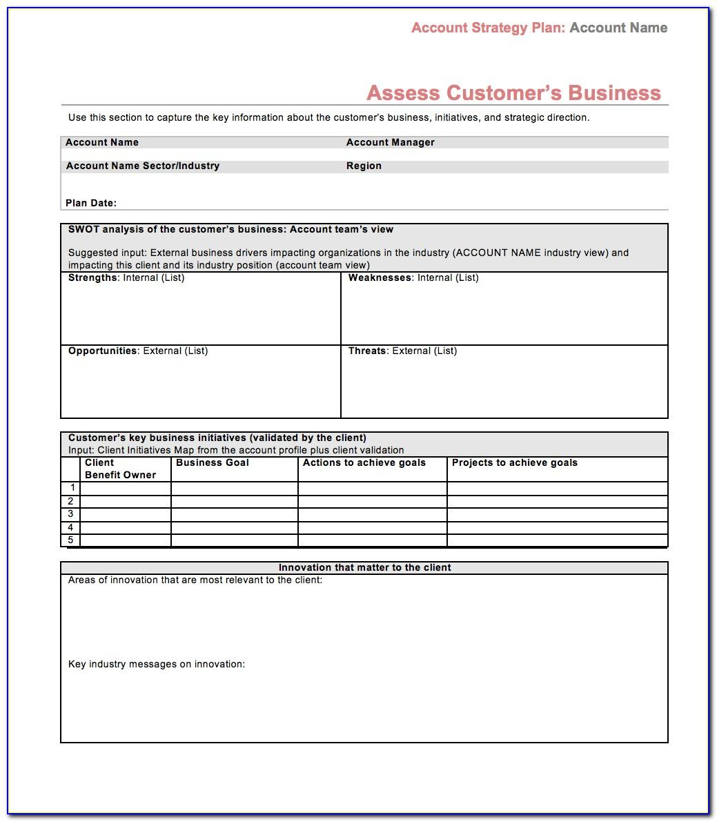 Sales Business Plan Template Pdf