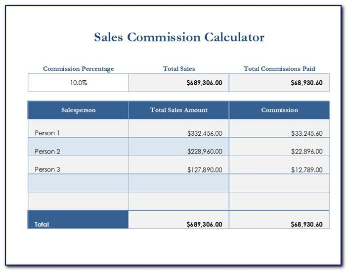 Sales Commission Structure Template Excel