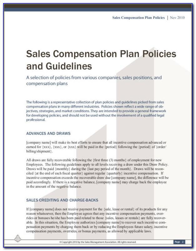 Sales Compensation Plan Sample