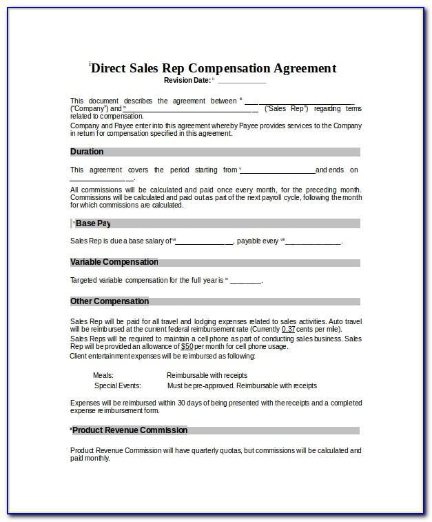 Sales Compensation Plan Template Excel