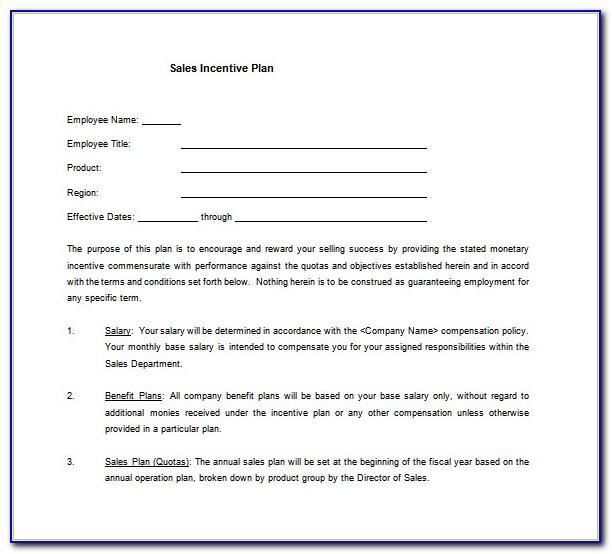 Sales Compensation Plan Template Word