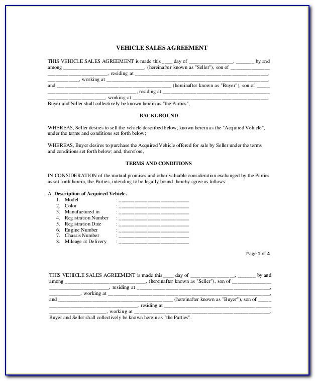 Sales Contract Example Pdf