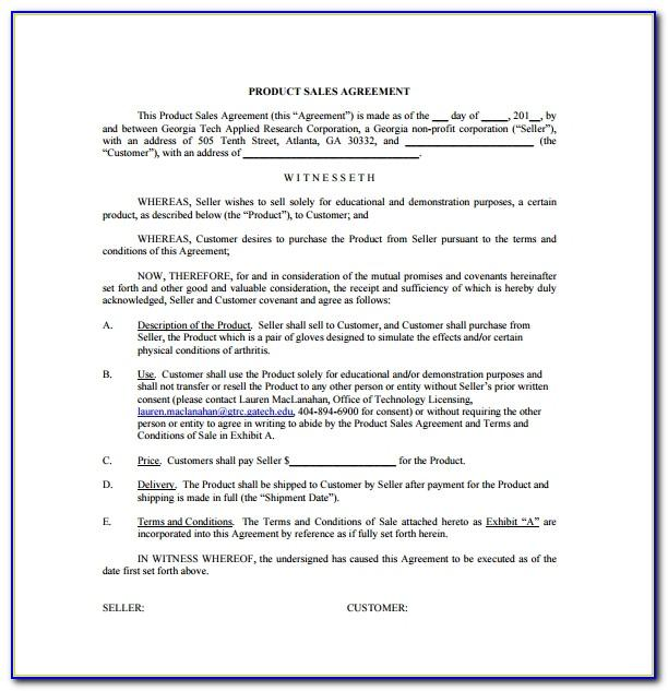 Sales Contract Examples Pdf