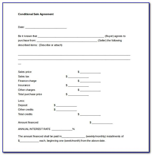 Sales Contract Template For Used Car