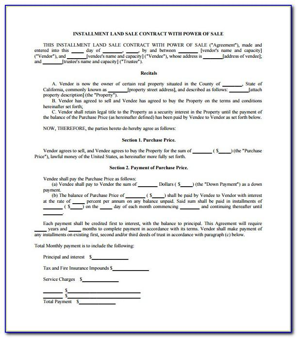 Sales Contract Template Pdf
