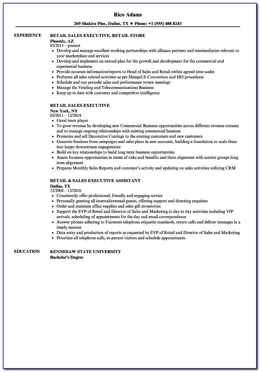 Sales Executive Curriculum Vitae Format