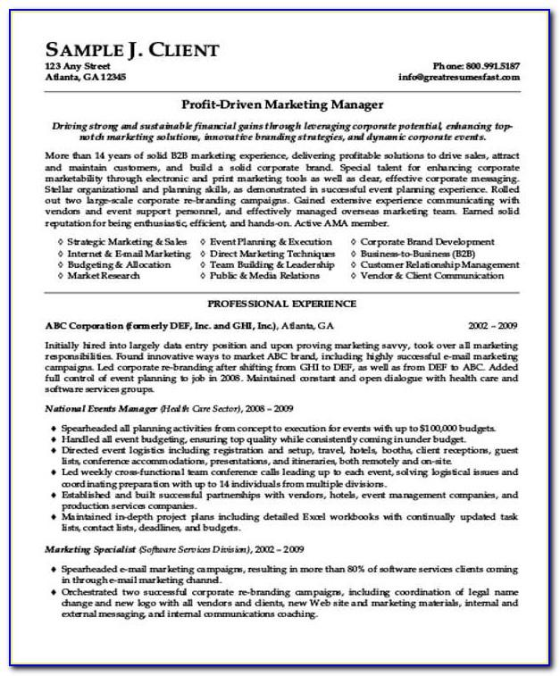Sales Executive Resume Examples 2018