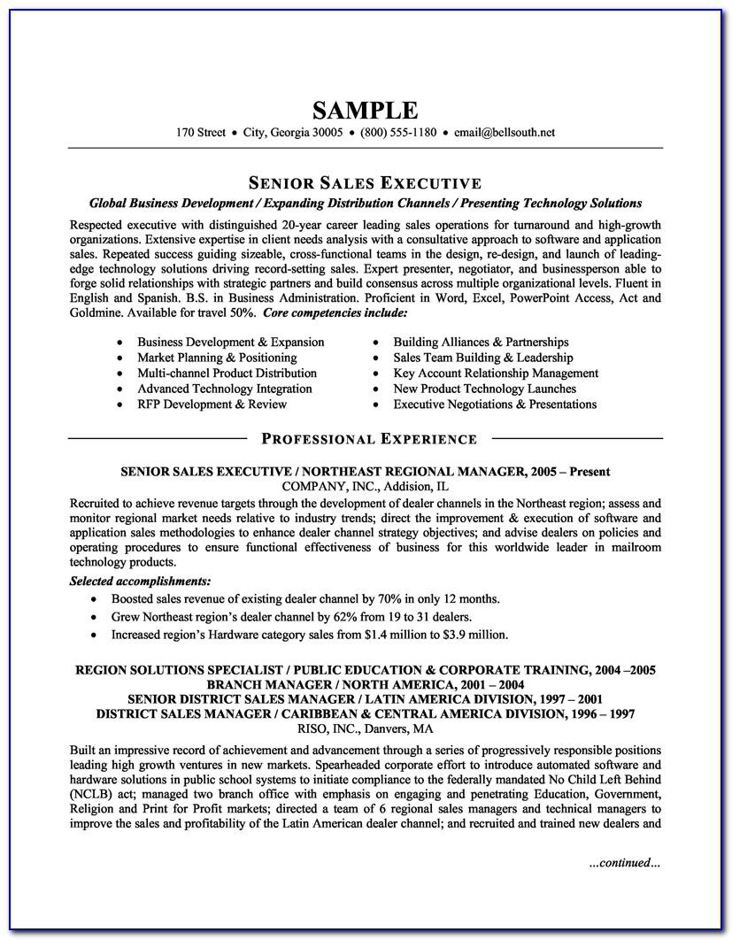 Sales Executive Resume Samples Free
