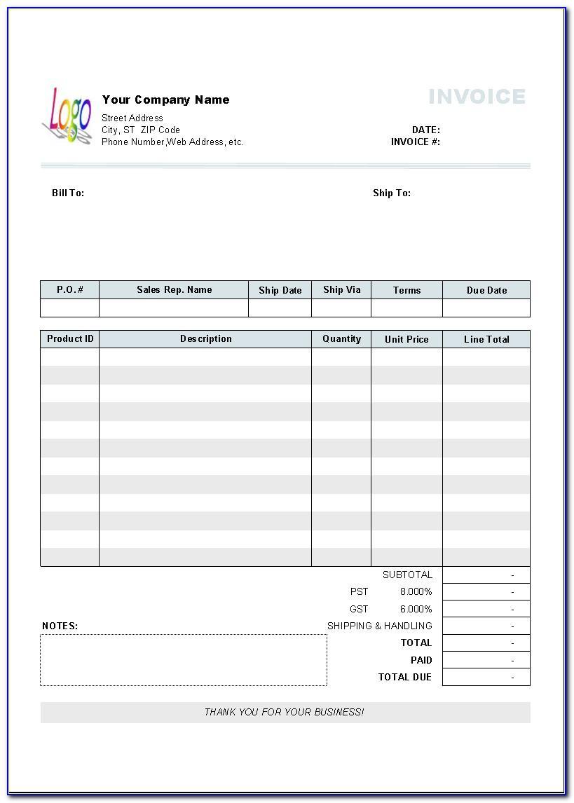 Sales Invoice Form Pdf