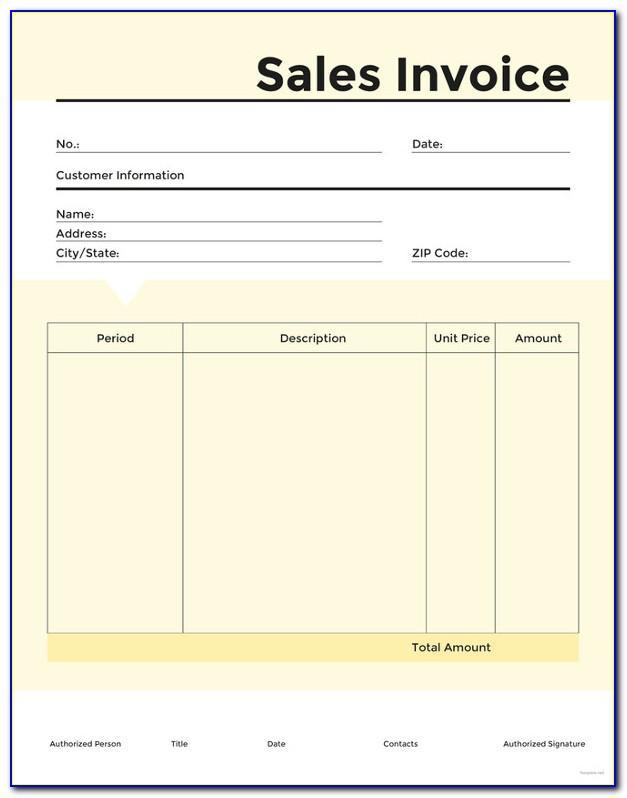 Sales Invoice Templates Free